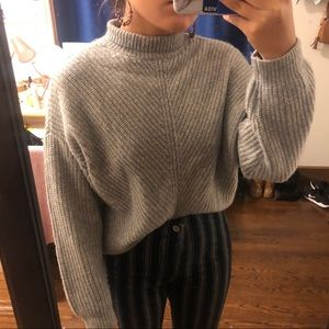 Express gray turtle neck